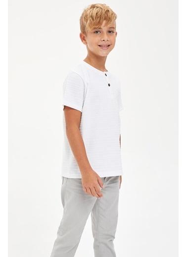 DeFacto Tişört Beyaz